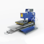 Schulze Pneumatic Blue Heat Press with draw open
