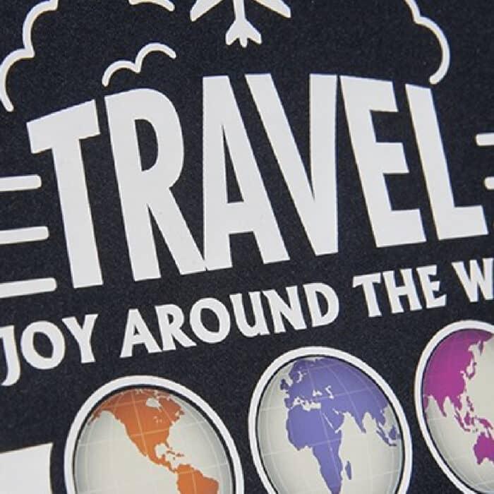Travel design made with Sef Tatoo Nylon Vinyl