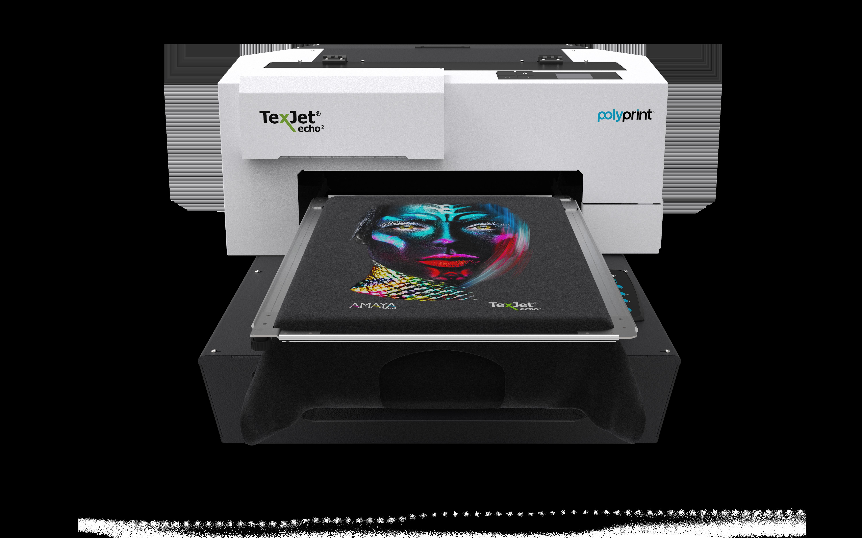 Texjet Polyprint Echo2 Direct to garment machine with garment