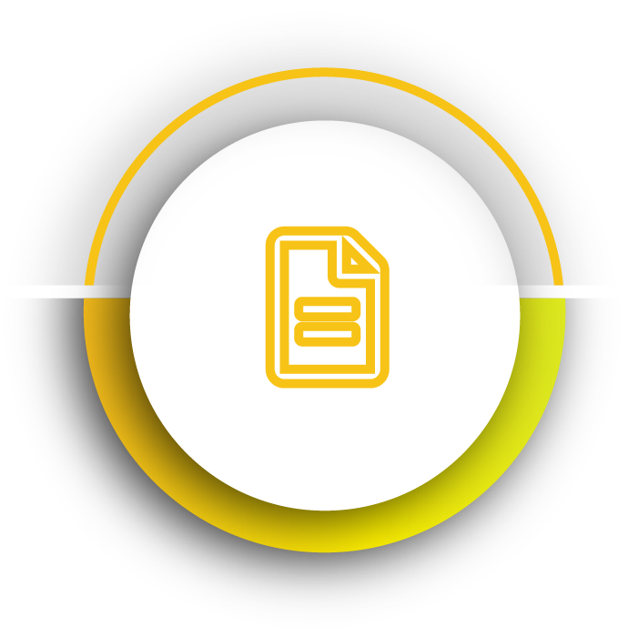 Yellow evaluation theme icon for Kornit Roadmap to owning a Kornit