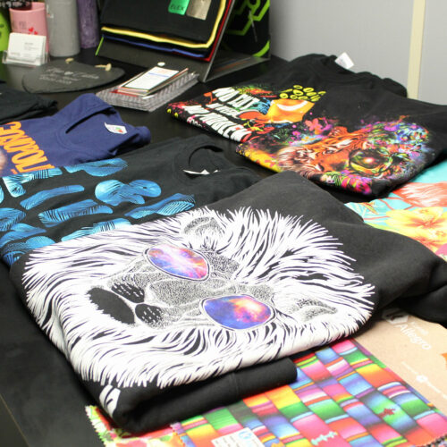 Table display of printed products