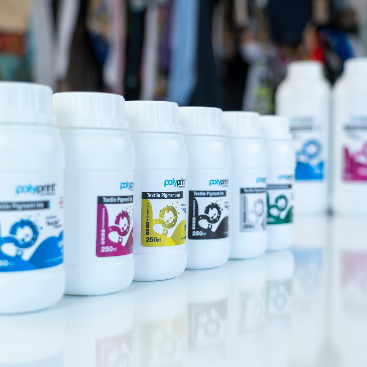 Polyprint Dupont Textile Pigment Inks 250ml