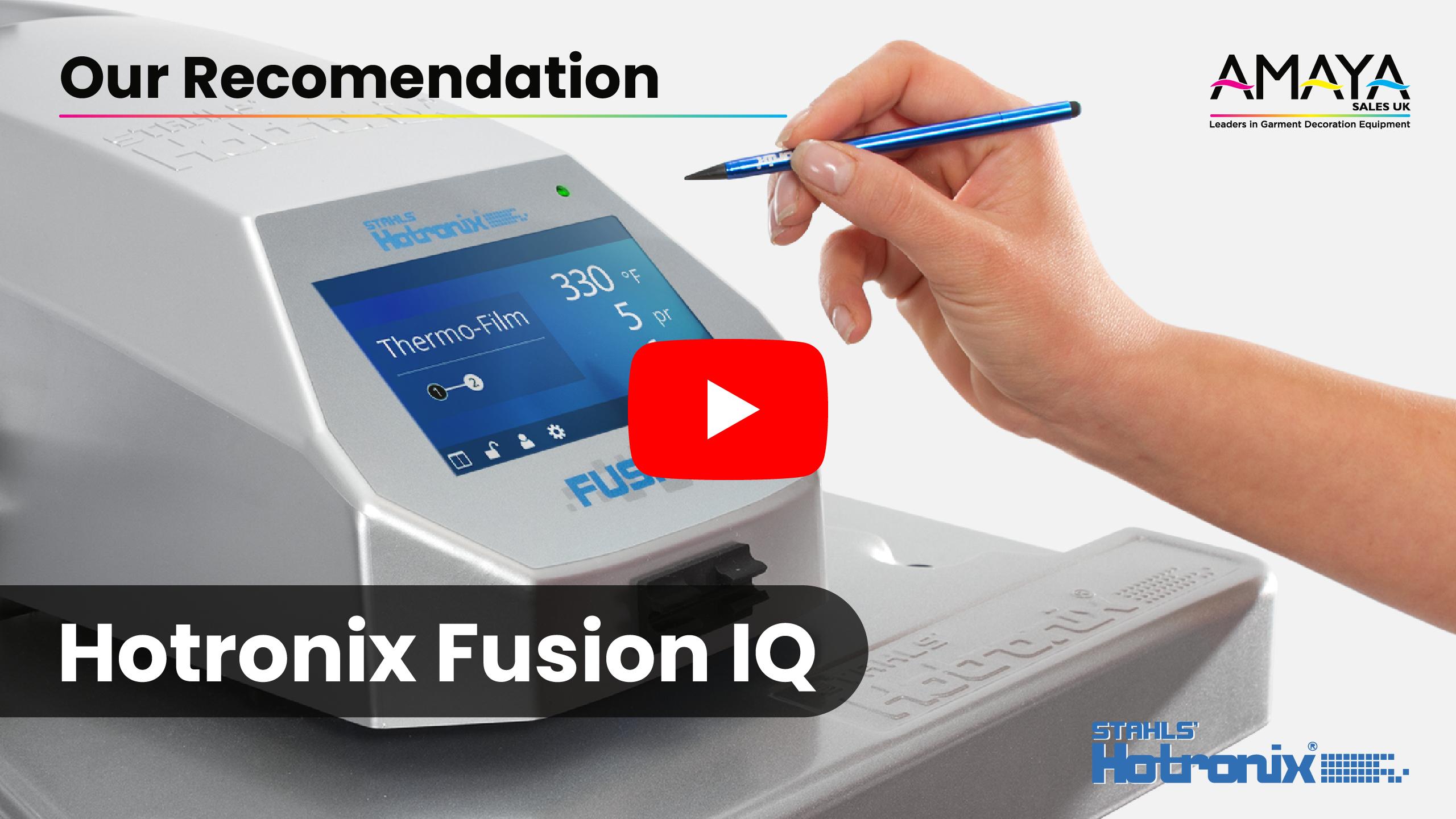 Recomended Heatpress Hotronix Fusion IQ