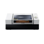 Roland Versa UV LEF-300D Flat Bed Printer with lid closed on white background