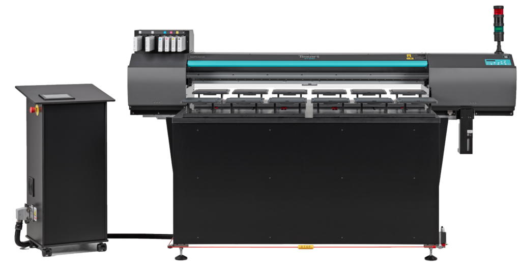 Roland XT-640S Direct to Garment Printer with transparent background