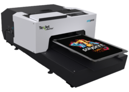 Texjet Shortee2 Direct to Garment Printer with transparent background