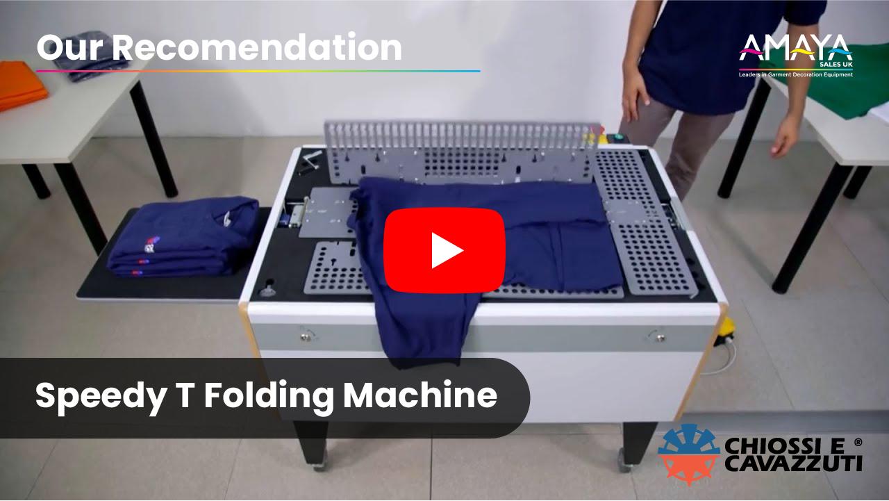 Chiossi E Cavazzuti Speedy T Folding Machine Recommendation Video Thumbnail