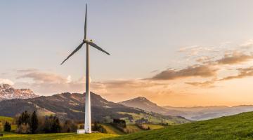 Wind Turbine on land
