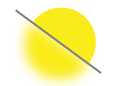 Yellow improving resolution icon with transparent background