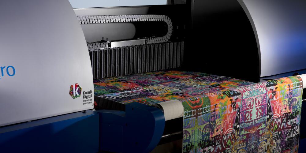 Kornit Digital printer with big print