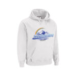 White Hoody with Snowboarding design printed with Forever Five Star Universal Paper on white background