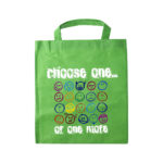 Green Tote bag with printed design using Forever Laser Dark No Cut B lite Paper