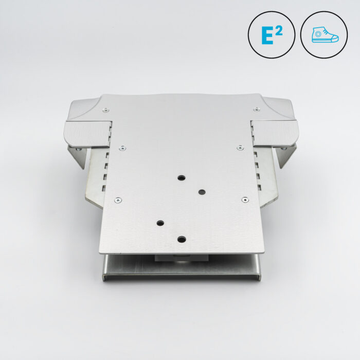 Polyprint Echo2 Shoe Platen on grey background with Icons