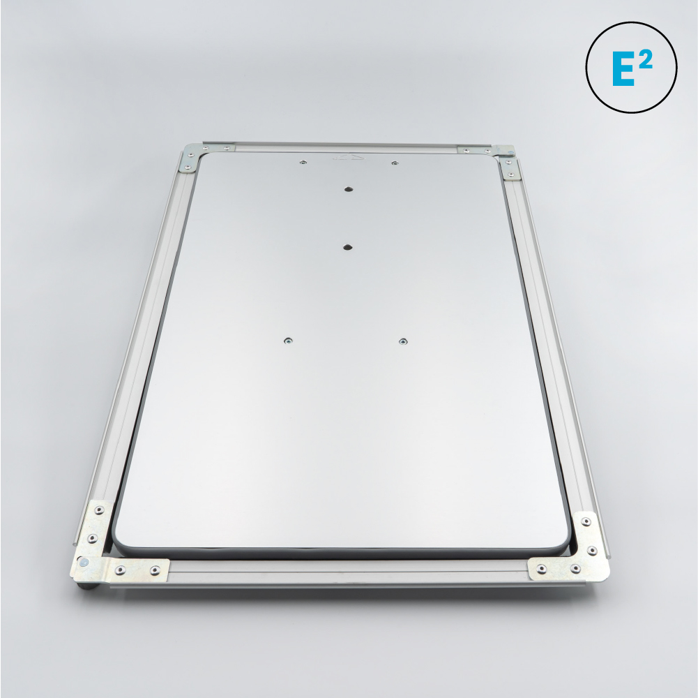 Polyprint Echo2 34x52cm Platen on grey background with Icons