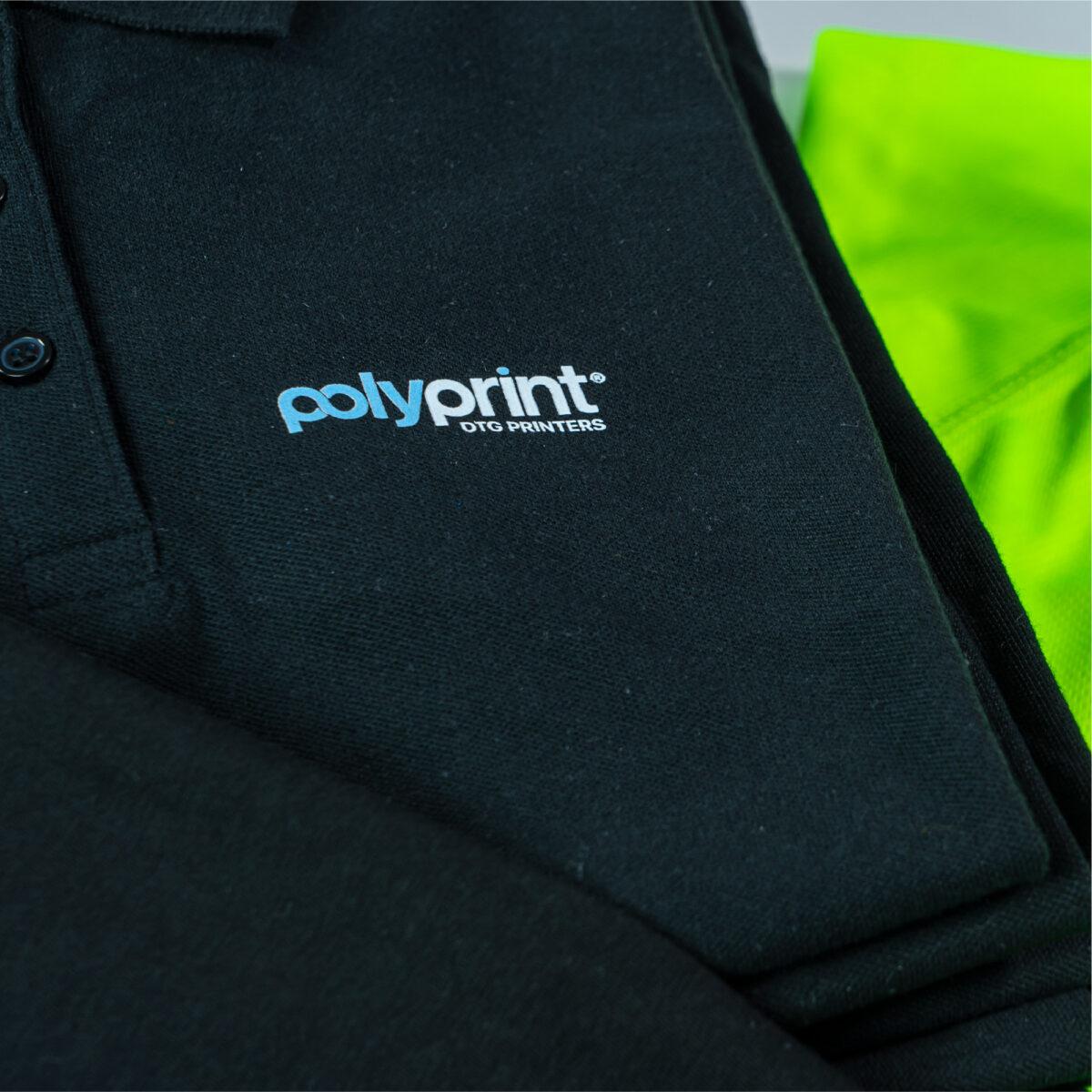 DTF Xpress Printed Logo on Polo Shirt Garment