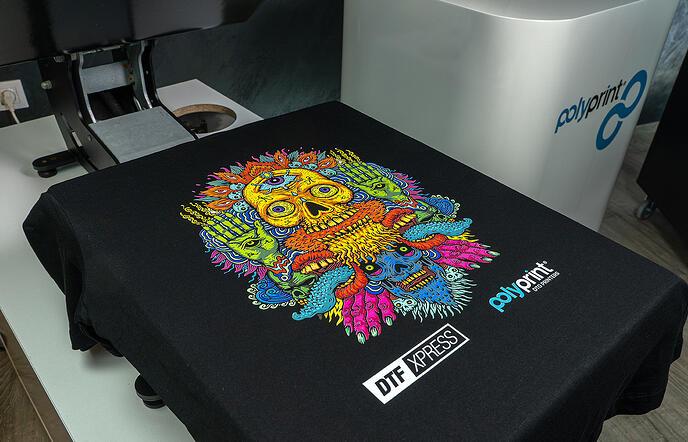 DTF Xpress print finished garment