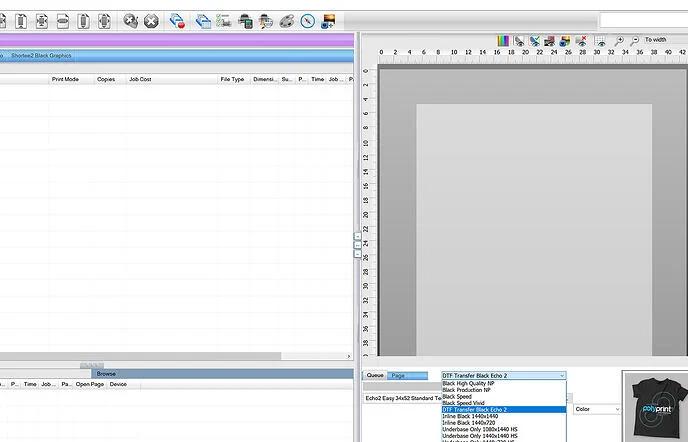 DTF Xpress Digital Factory Software Screenshot