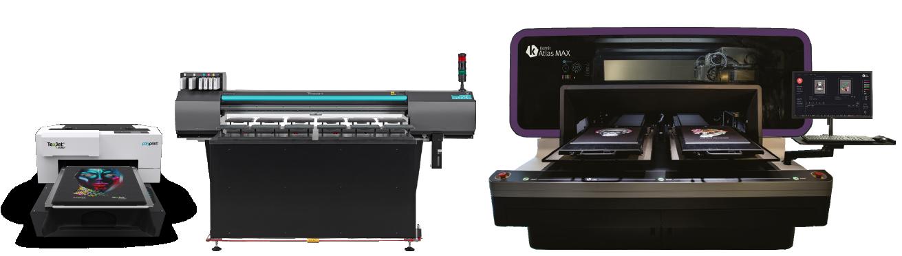 Direct to Garment Printers Texjet Echo2 Roland XT-640S Kornit Atlas Max