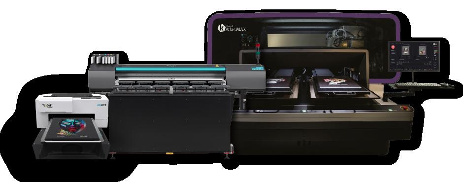 DTG Printers, Kornit Atlas Max, Roland XT 640S, Polyprint Texjet Echo2 Direct To Garment Printers