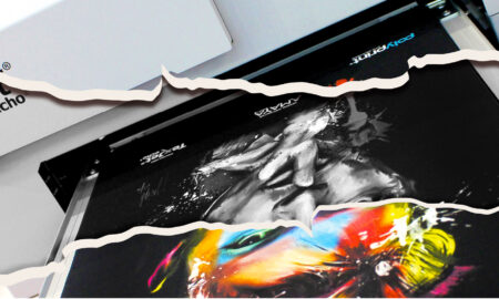 Garment on Texjet Echo 2 printer with rip image effect