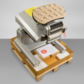 Melco Embroidery Machine in packaging