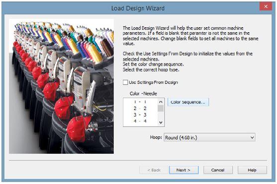 Melco Loading Design Wizard Screen