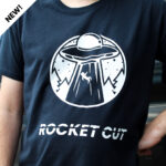 Man in shirt with space design made with Sef Rocket Cut Vinyl