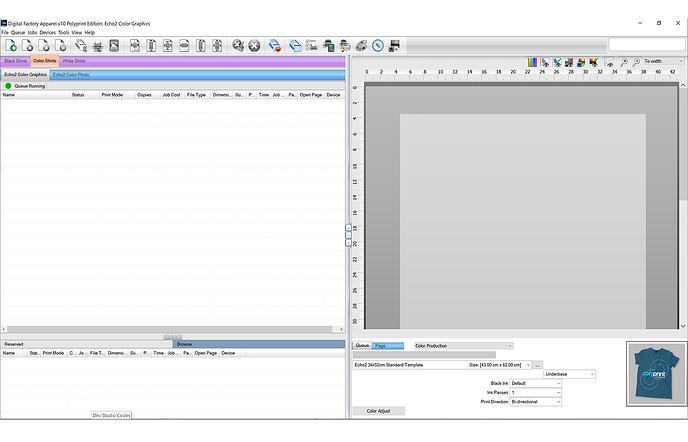 Basic printing process with Digital Factory Apparel Polyprint Edition v10
