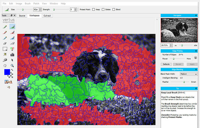 Digital Factory background remover tool