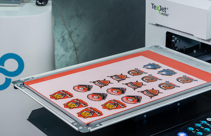 Digital factory printing multiple images steps