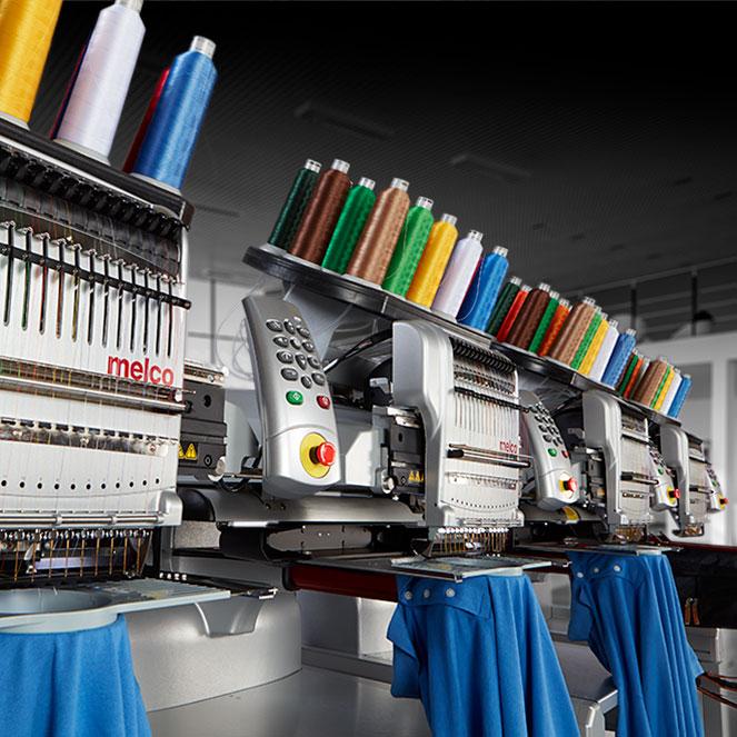 Melco EM16X Modular Embroidery Machines