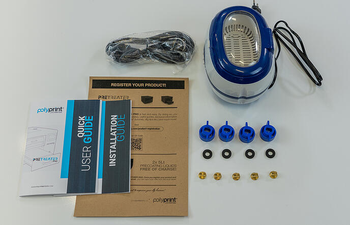 Texjet Pretreater Pro Unboxing and Installation Parts