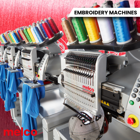 Melco EMT16X Modular Embroidery Machines